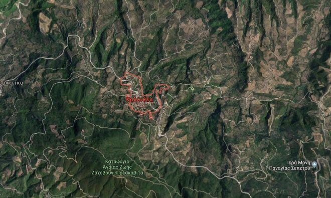 Καλλιθέα Ηλείας: Η περιοχή όπου ξέσπασε η φωτιά