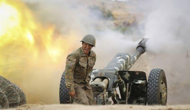 Αρμένιος στρατιώτης στις μάχες στο Ναγκόρνο- Καραμπάχ