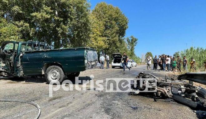 Ηλεία: Σφοδρή σύγκρουση μηχανής με αγροτικό όχημα - Νεκρός 27χρονος