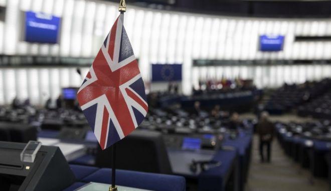 H σημαία της Μεγάλης Βρετανίας στο Ευρωκοινοβούλιο