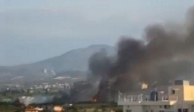 Εικόνα από τη φωτιά στο Κιάτο
