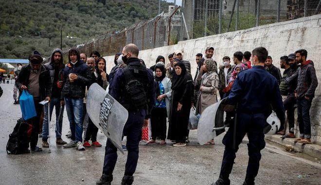 Δομή μεταναστών της Μόριας, στη Λέσβο