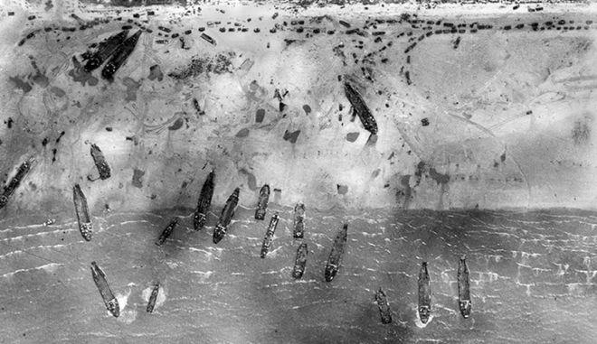 Σπάνιες αεροφωτογραφίες από την απόβαση στη Νορμανδία