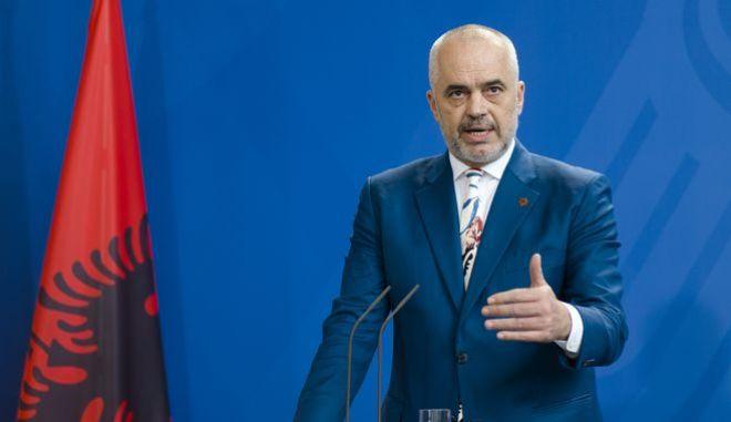 O πρωθυπουργός της Αλβανίας, Έντι Ράμα