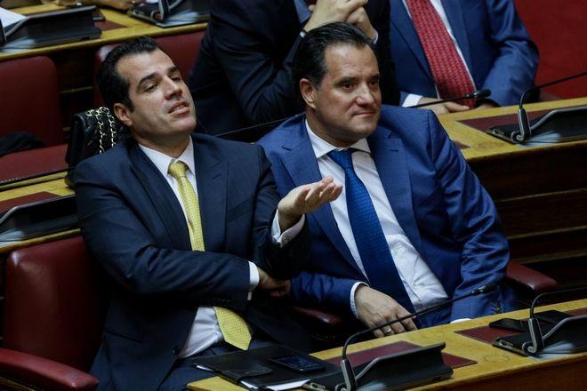 Στα έδρανα της ΝΔ οι βουλευτές Πλεύρης και Γεωργιάδης