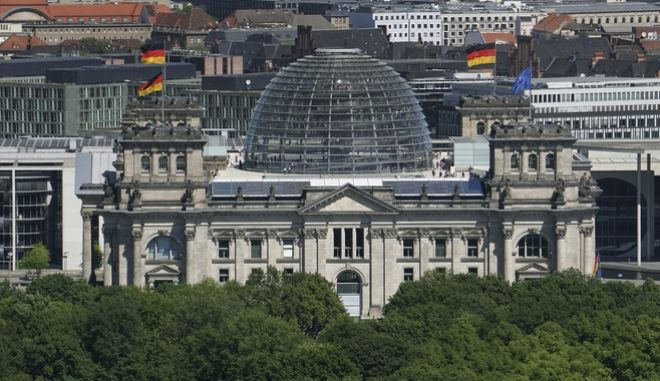 Το κτίριο Reichstag, στο Βερολίνο.