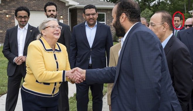 IMAGE DISTRIBUTED FOR ARAMCO SERVICES - His Royal Highness Crown Prince Mohammed Bin Salman and Houston Mayor Sylvester Turner visited with Houston's Habitat for Humanity on Saturday, April 7, 2018, in Houston, TX on the last stop of his U.S. tour. (Photo by Paul Ladd/Invision for Aramco Services/AP Images)