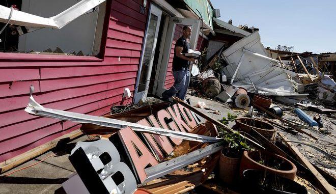 Εικόνες καταστροφής στο Callaway μετά το πέρασμα του κυκλώνα Μάικλ