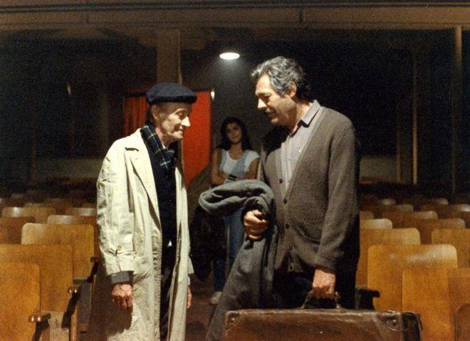 Ο Ντίνος Ηλιόπουλος, ο Μαρτσέλλο Μαστρογιάννι και στο βάθος η Νάντια Μορούζη - Στιγμιότυπο από τον