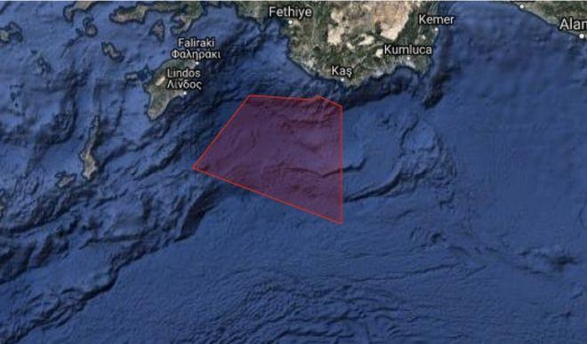 Τουρκικό θράσος: Εξέδωσαν Navtex μεταξύ Καστελόριζου και Ρόδου και δυτικά της Κύπρου