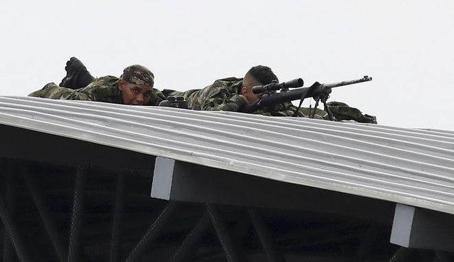 Στρατιώτης στα σύνορα της Βραζιλίας