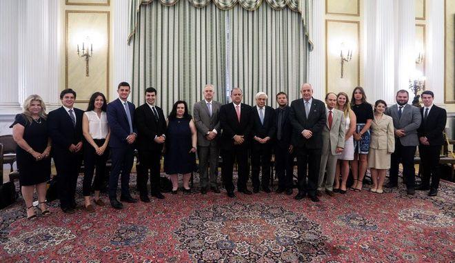 Συνάντηση του Προέδρου της Δημοκρατίας Προκόπη Παυλόπουλου με ομάδα φοιτητών του Ελληνο-Αμερικανικού Ινστιτούτου