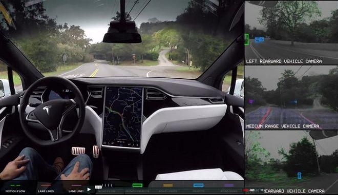 Δες το εκπληκτικό βίντεο μέσα από ένα Tesla που οδηγεί μόνο του