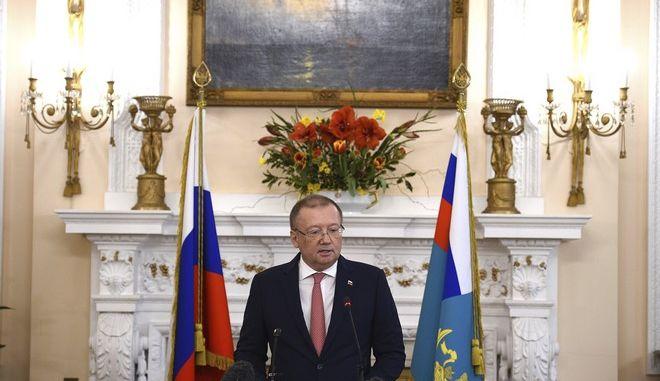 Ο Ρώσος πρέσβης στο Λονδίνο, Αλεξάντερ Γιακοβένκο