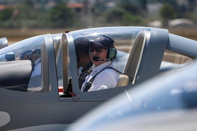 Τελετή ένταξης των εκπαιδευτικών αεροσκαφών  P-2002JF στην Πολεμική Αεροπορία στην στην αεροπορική βάση Δεκέλειας στο Τατόι