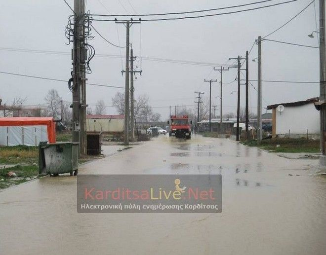 Καρδίτσα: Προληπτική εκκένωση οικισμού λόγω της έντονης βροχόπτωσης