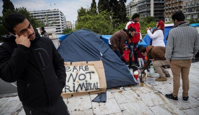 Πρόσφυγες στη Βουλή