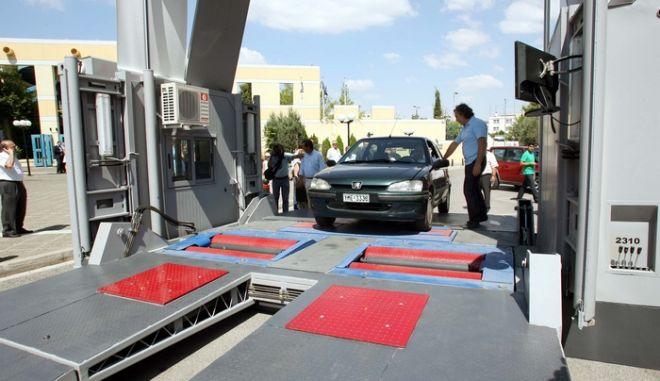 'Εγινε σήμερα Πέμπτη 17 Ιουλίου 2008,παρουσία του Υπουργού Μεταφορών και Επικοινωνιών Κωστή Χατζηδάκη,η παρουσίαση των νέων Κινητών Κέντρων Τεχνικού Ελέγχου Οχημάτων (ΚΚΤΕΟ) στο Υπουργείο Μεταφορών  (ΤΑΤΙΑΝΑ ΜΠΟΛΑΡΗ/EUROKINISSI)