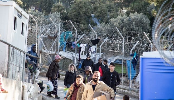 Στιγμιότυπο από την Δομή Προσφύγων στο Βαθύ της Σάμου.