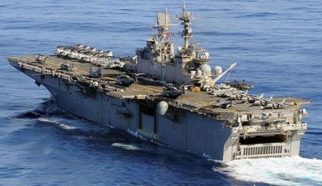 Κύπρος: Στη Λεμεσό το αμφίβιο πολεμικό πλοίο 'Iwo Jima' του 6ου στόλου των ΗΠΑ