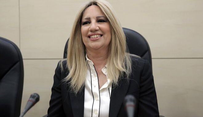 Η πρόεδρος του Κινήματος Αλλαγής, Φώφη Γεννηματά συμμετέχει σε εκδήλωση του Κινήματος Αλλαγής, για το μέλλον της επιχειρηματικότητας στην Ελλάδα, στο αμφιθέατρο της ΓΣΕΒΕΕ