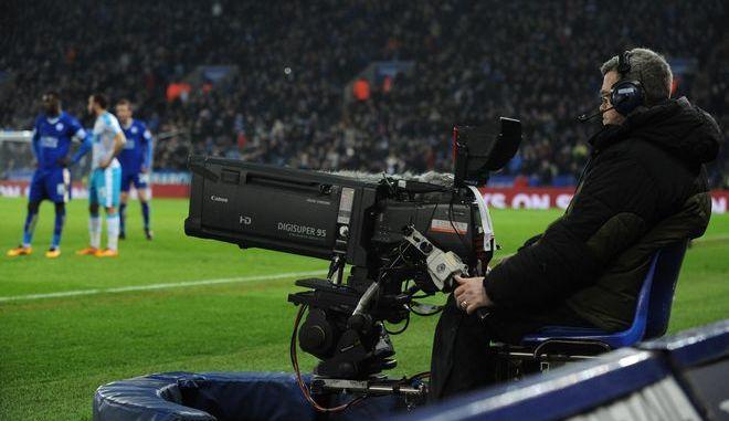 Cameraman σε αγώνα της Premier League