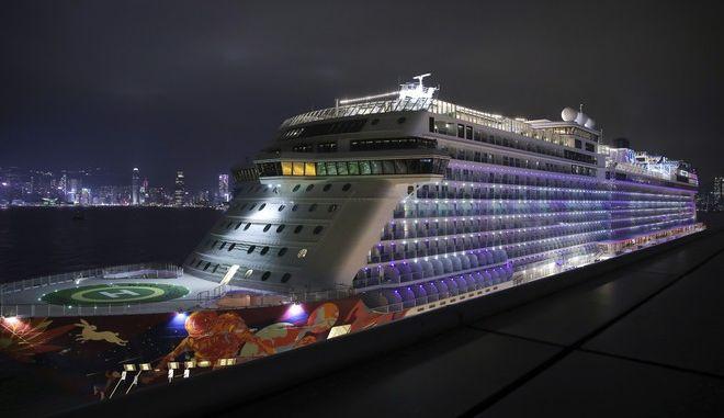 Το κρουαζιερόπλοιο World Dream στο οποίο εντοπίστηκαν επιβάτες με το νέο κοροναϊό, Αρχείο