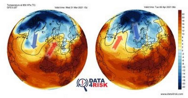 Τα κύματα Rossby και οι μεγάλες εναλλαγές του φετινού ανοιξιάτικου καιρού στην Ευρώπη