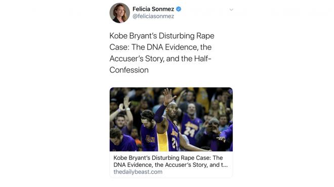 Κόμπι Μπράιαντ: Σε διαθεσιμότητα μέχρι νεοτέρας η δημοσιογράφος της Washington Post