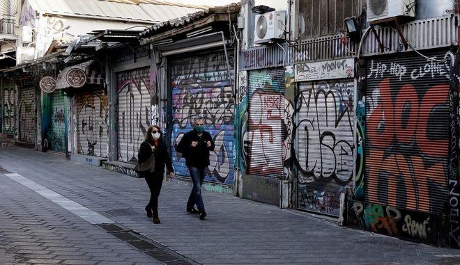 Κλειστά καταστήματα στην Αθήνα
