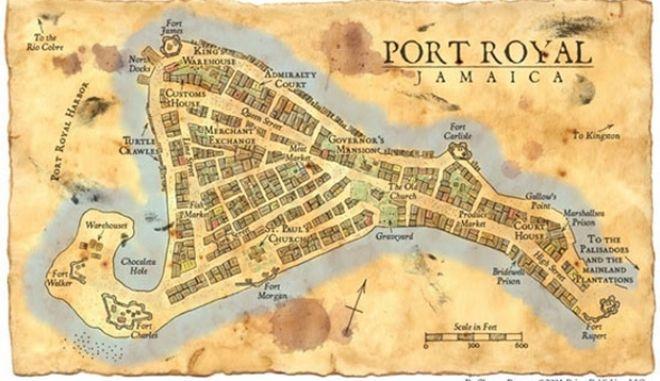 Οι πειρατές της Καραϊβικής ζούσαν στη Τζαμάικα. Kούρσευαν πλοία με την άδεια των Εγγλέζων και πνίγηκαν από τσουνάμι