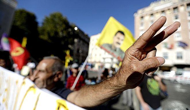 Από συγκέντρωση Κούρδων