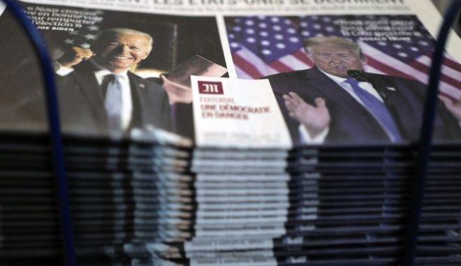 Μπάιντεν και Τραμπ στα πρωτοσέλιδα του διεθνούς Τύπου