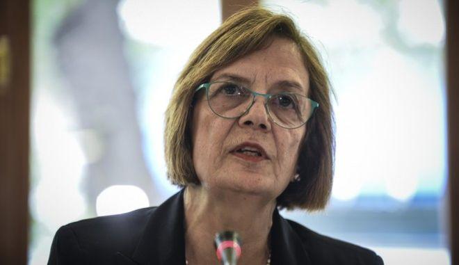 H  υπουργός Πολιτισμού και Αθλητισμού, Μυρσίνη Ζορμπά