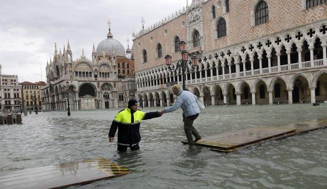 Η πλατεία του Αγίου Μάρκου στη Βενετία πλημμυρισμένη