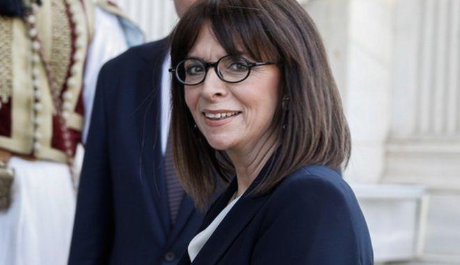 Η Προέδρος της Δημοκρατίας, Αικατερίνη Σακελλαροπούλου