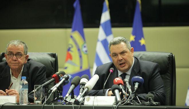 Συνέντευξη τύπου του υπουργού Άμυνας Πάνου Καμμένου την Τρίτη 16 Φεβρουαρίου 2016. (EUROKINISSI/ΓΙΑΝΝΗΣ ΠΑΝΑΓΟΠΟΥΛΟΣ)