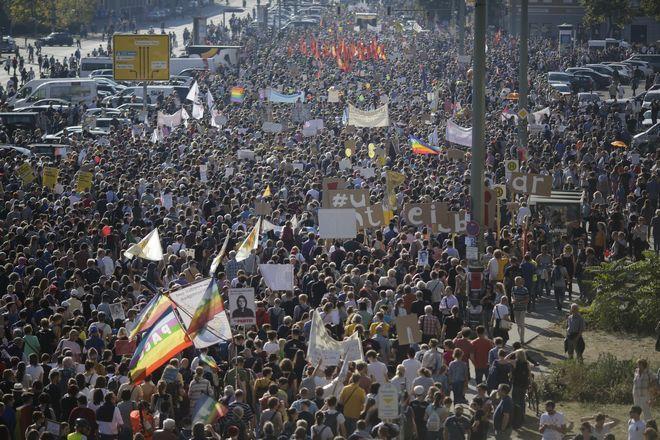 Η διαδήλωση υποστηρίχθηκε από δεκάδες οργανώσεις και πολιτικά κόμματα