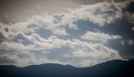 Σύννεφα σκεπάζουν μέρος του βουνού του Κόζιακα στο νομό Τρικάλων.