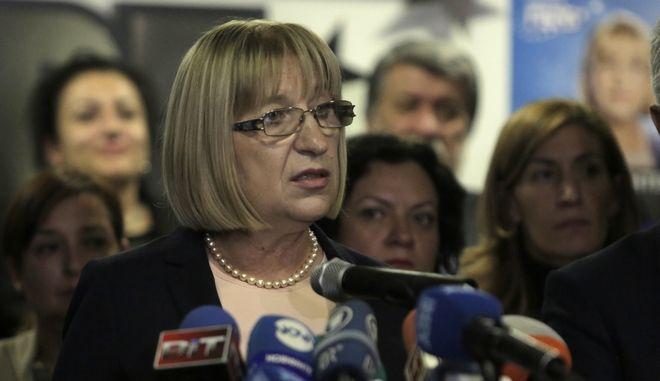 Η υπουργός Δικαιοσύνης της Βουλγαρίας Τσέτσκα Τσάτσεβα στη Σόφια