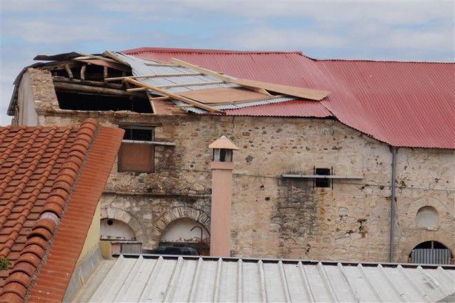 Καταστροφές στο Βυζαντινό Μουσείο Χαλκιδικής στα Ν. Φλογητά