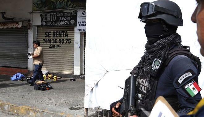 Άνδρες της αστυνομίας του Μεξικού σε σημείο επίθεσης στο Ακαπούλκο (φωτό αρχείου)