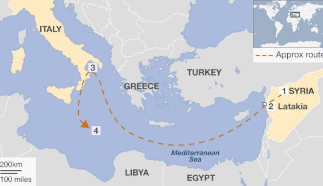 Περιβαλλοντική βόμβα από τη Συρία: Χημικά θα καταστραφούν δυτικά της Κρήτης
