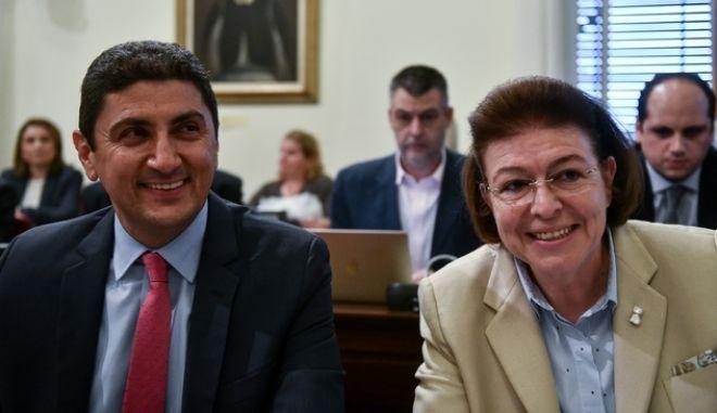 Ο Λευτέρης Αυγενάκης και η Λίνα Μενδώνη