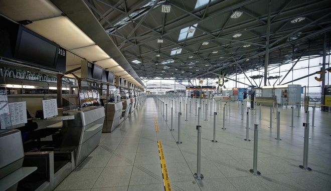 Άδειο αεροδρόμιο στη Γερμανία