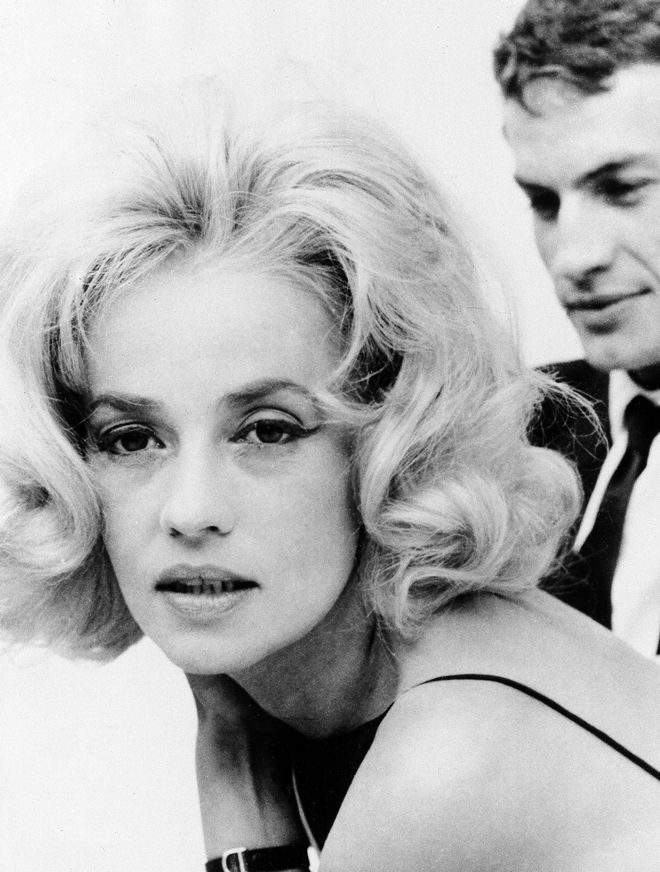 French actress Jeanne Moreau and co-star Claude Mann are seen in the new film,