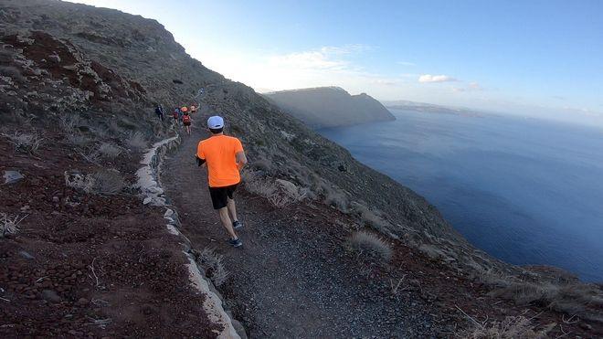 Running photo @ Santorini Experience