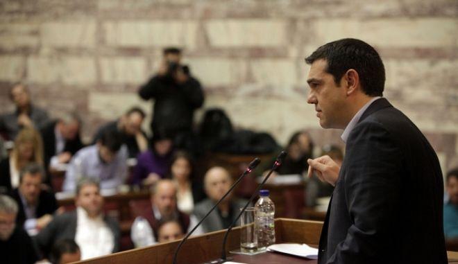 ΑΘΗΝΑ-ΒΟΥΛΗ-Ομιλία Αλέξη Τσίπρα την Κ.Ο. του ΣΥΡΙΖΑ.(EUROKINISSI-ΓΕΩΡΓΙΑ ΠΑΝΑΓΟΠΟΥΛΟΥ)