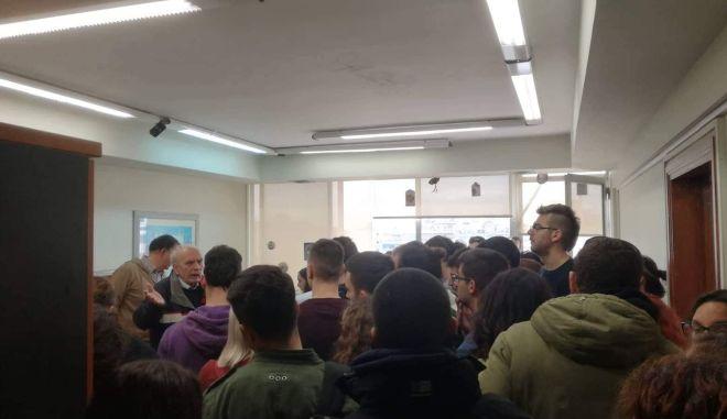 Κατάληψη φοιτητών στα γραφεία του Ινστιτούτου Εκπαίδευσης και Διά βίου Μάθησης