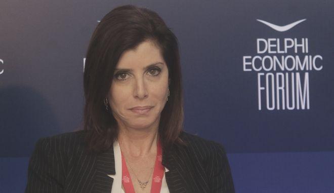 Η Άννα Μισέλ Ασημακοπούλου στο Οικονομικό Φόρουμ των Δελφών